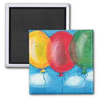 Three balloons magnet