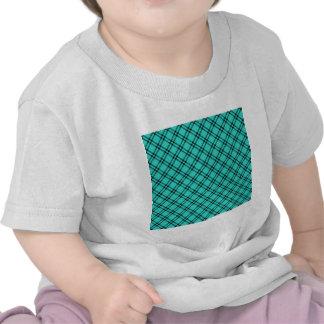 Three Bands Small Diamond - Black on Turquoise Tee Shirt