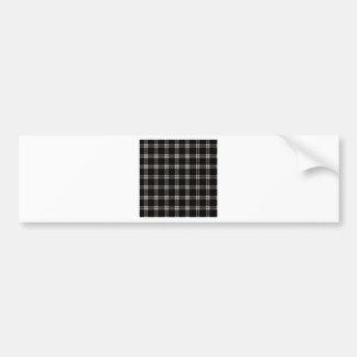 Three Bands Small Square - Almond on Black Bumper Sticker