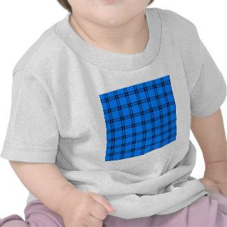 Three Bands Small Square - Black on Azure Shirt