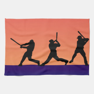 Three Baseball Batters Tea Towel
