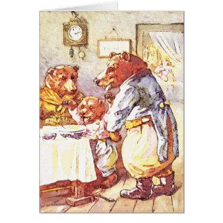 Three Bears Greeting Card