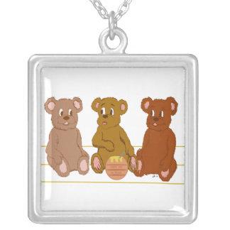 Three Bears Necklace