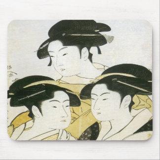 Three Beauties, Utamaro, 1790s Mousepad