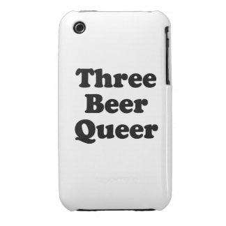 Three Beer Queer iPhone 3 Case-Mate Case