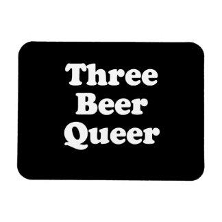 Three Beer Queer Rectangular Photo Magnet