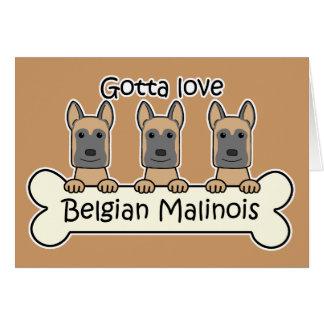 Three Belgian Malinois Cards