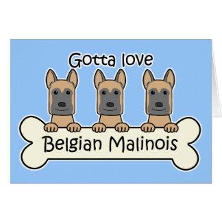 Three Belgian Malinois Card