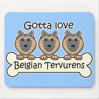 Three Belgian Tervurens Mouse Pad