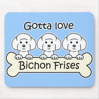 Three Bichon Frises Mouse Mat