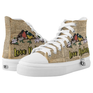 Three Birds Love Nature High Top Shoes Sneakers