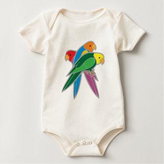 Three birds parrots three birds parrots baby bodysuit