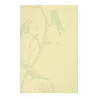 Three Birds Talking ~ Stationary / Letterhead Custom Stationery