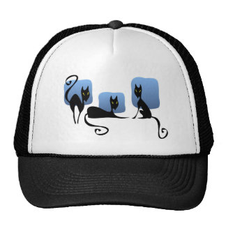 Three Black Cats Hat