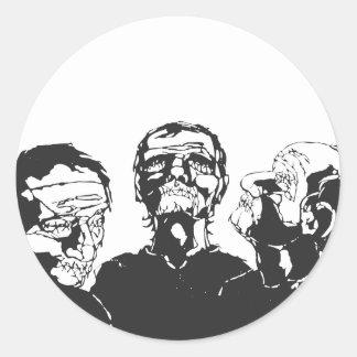 Three Blind Men Round Sticker