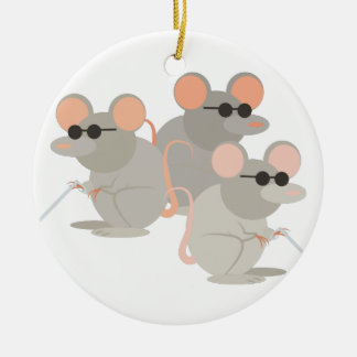 Three Blind Mice Christmas Ornament