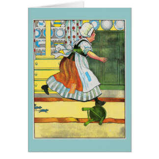 Three blind mice! See how they run! Greeting Card