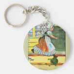 Three blind mice! See how they run! Basic Round Button Key Ring