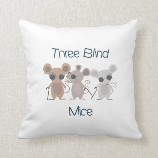 Three Blind Mice Throw Pillow