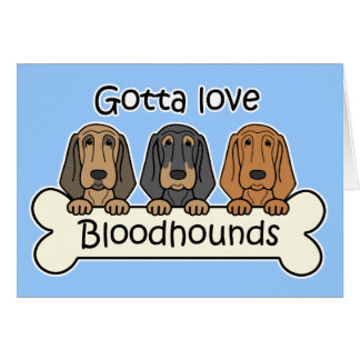 Three Bloodhounds Greeting Card