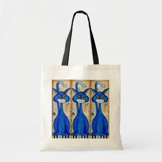 Three Blue Cats Bag