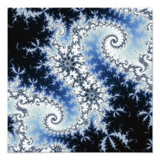 Three Blue Stars - fractal design Photo Art