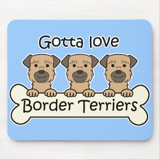 Three Border Terriers Mouse Pads