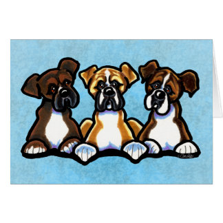 Three Boxers Personalized Card