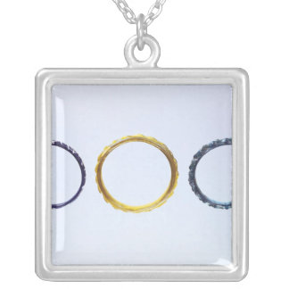 Three bracelets, from Mathay-Mandeure Silver Plated Necklace