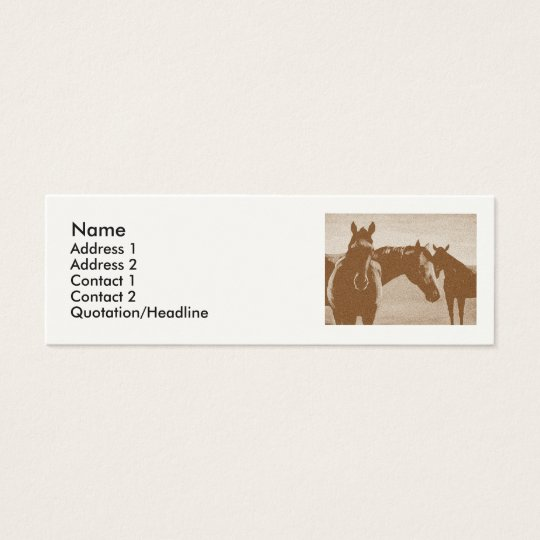 """Three Brown Horses"" Customised Profile card"