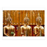 Three Buddhas in Thailand Post Card
