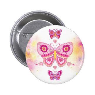 Three Butterflies 6 Cm Round Badge