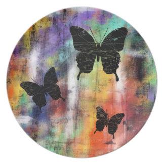 Three Butterflies Plate