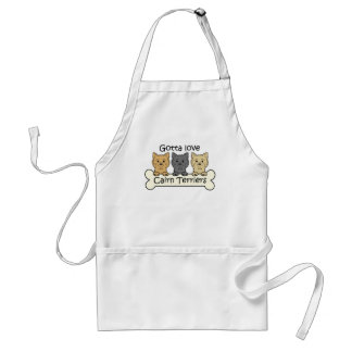 Three Cairn Terriers Standard Apron