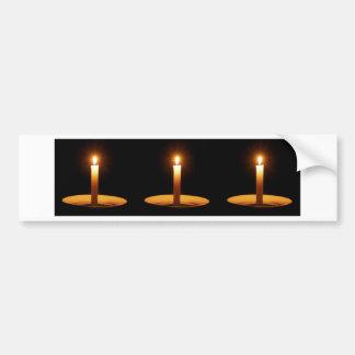 Three Candles Against Black.jpg Bumper Sticker