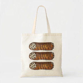 Three Cannolis Italian Chocolate Cannoli Food Tote