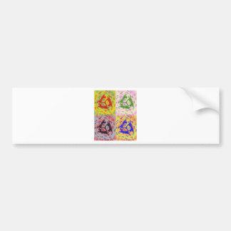 Three Cat Pop Art Multicoloured Bumper Stickers