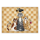 Three Cats - Blank Card