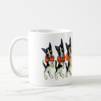 Three Cats by Louis Wain - Vintage Cat Art Classic White Coffee Mug