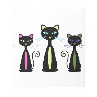 Three Cats Notepad