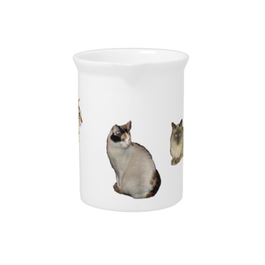 Three Cats Pitcher