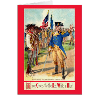 Three Cheers for the Red White & Blue Greeting Card