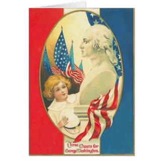 Three Cheers for Washington Greeting Card