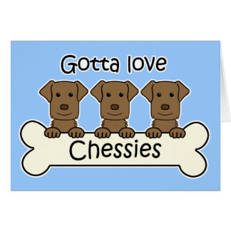Three Chesapeake Bay Retrievers Card