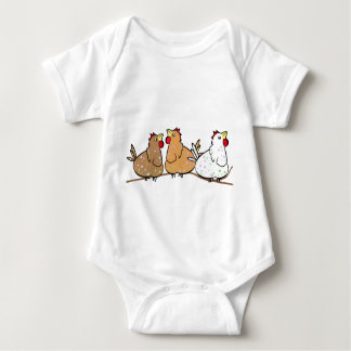 Three Chickens on a Branche -Baby T-shirt