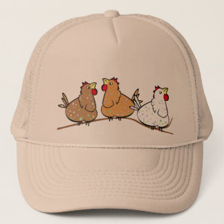 Three Chickens on a Branche - Cap Hat