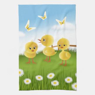 Three Chickens Towel