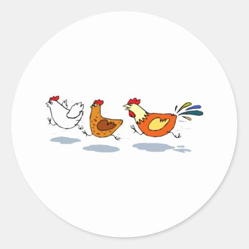 Three Chicks Sticker