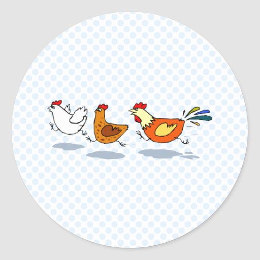 Three Chicks Round Sticker