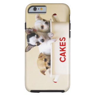 Three chihuahua puppies in cake tin tough iPhone 6 case